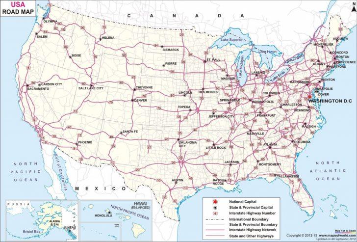 Free Printable Usa Road Map