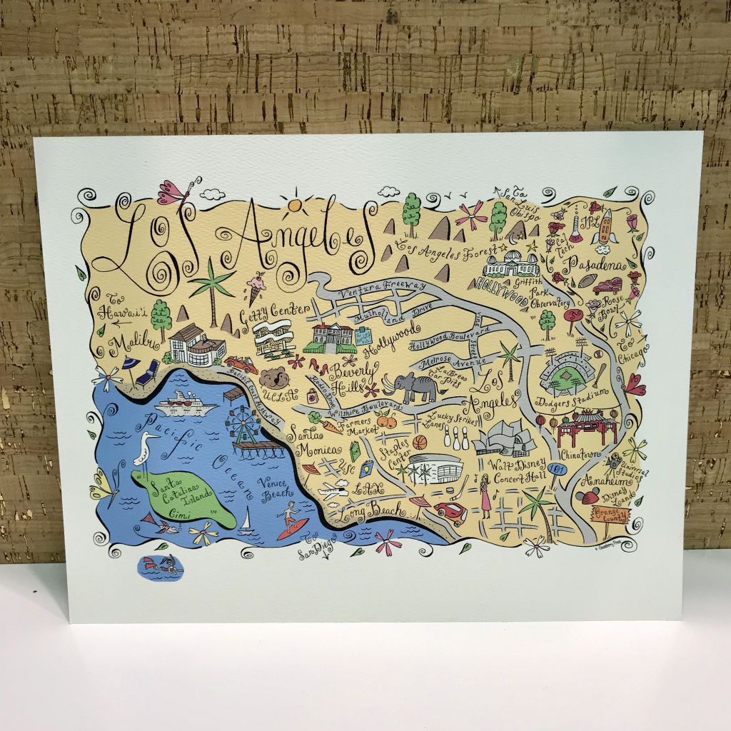 Us Mail Priority Shipping Map Usps Priority Map Unique Los Angeles   8X10 Printable Us Map
