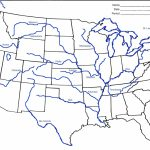 Us Major Rivers Map Printable New Unlabeled Map Us Rivers Us Rivers | Big Printable Map Of The United States
