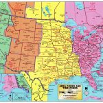 Us Map According To Timezone New Printable United States Map With | Printable United States Map With Time Zones And State Names
