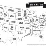 Us Map Black And White Printable Of The Usa Mr Printables | Mr. Printable Usa Map