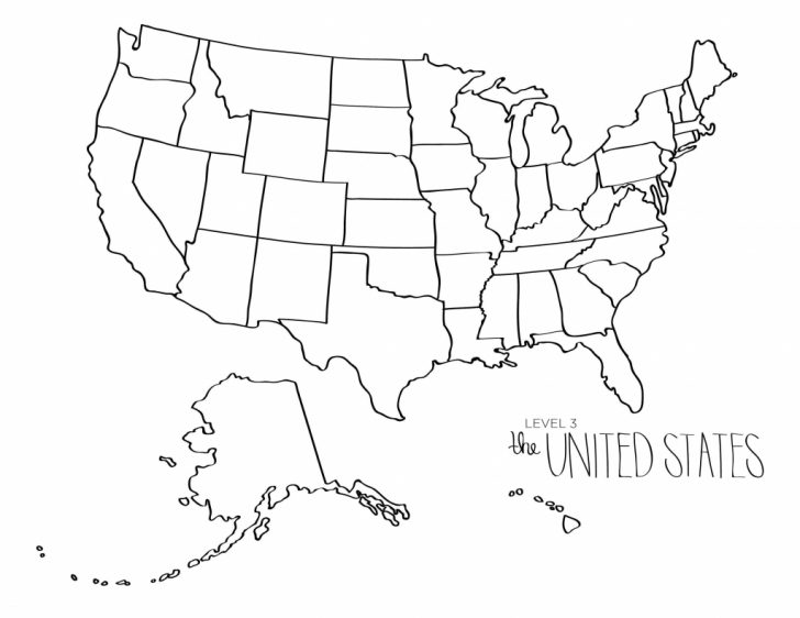 Printable Us Map For Coloring