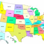 Us Map Colorstate Fresh Printable Map United States America Map   Printable United States Map Color