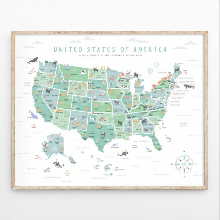 Printable Us Map Poster