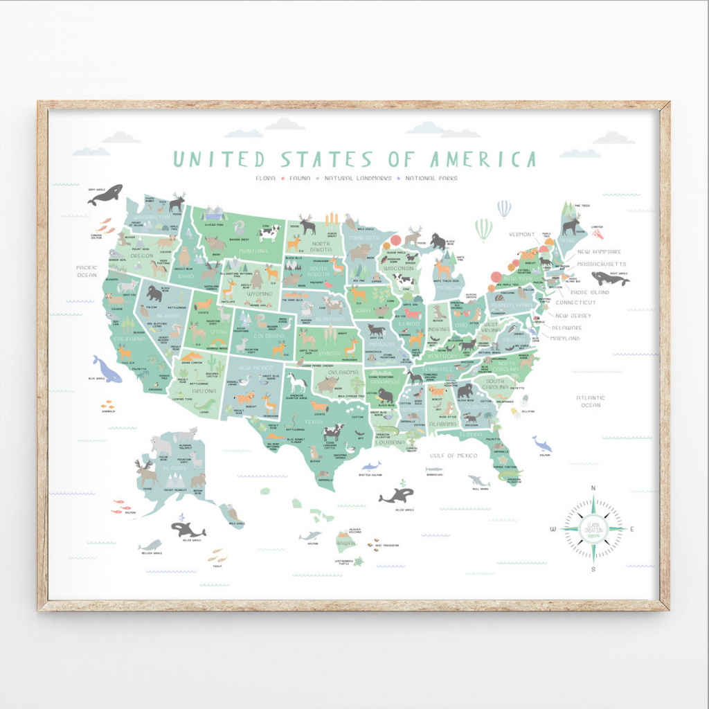 Us Map Instant Download 4 Print Sizes Usa Wall Art Usa Map | Etsy | Printable Us Map Poster