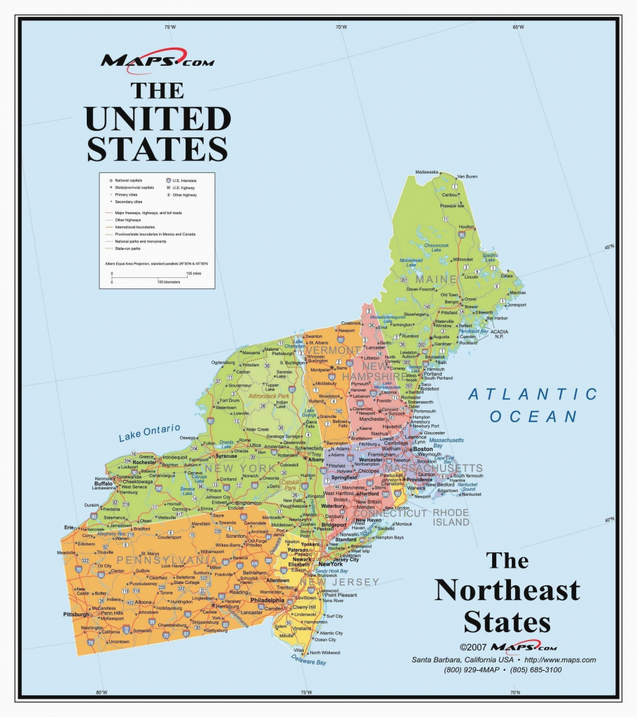 Us Map North East Unique North East United States Map New Printable   Printable Map Of Northeast Us