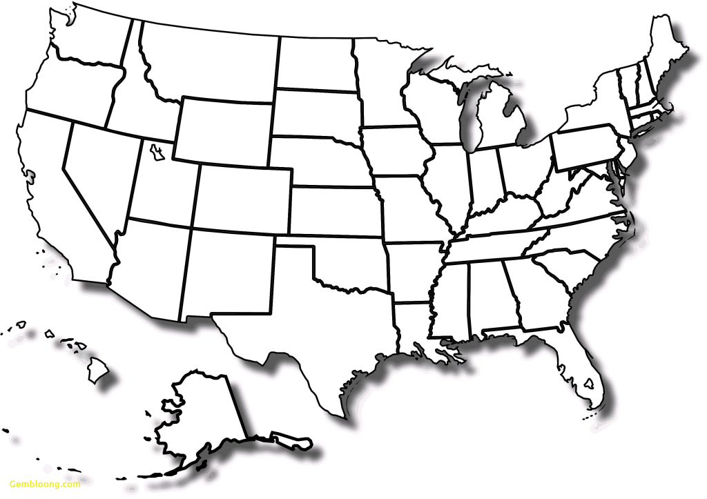 Us Map Picture Blank United States Map Printable Blank Fresh Blank | Printable Blank Map Of The United States Pdf