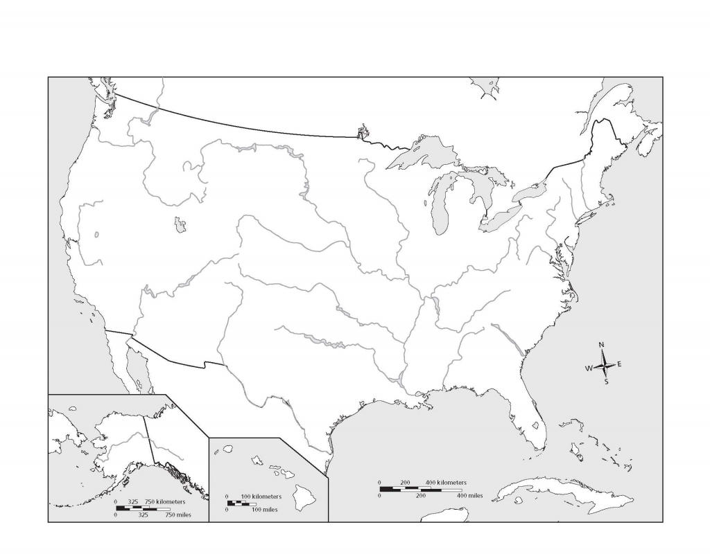 Us Map Rivers Blank Forwardx Me Throughout At For 3   Blank Us Map With Rivers