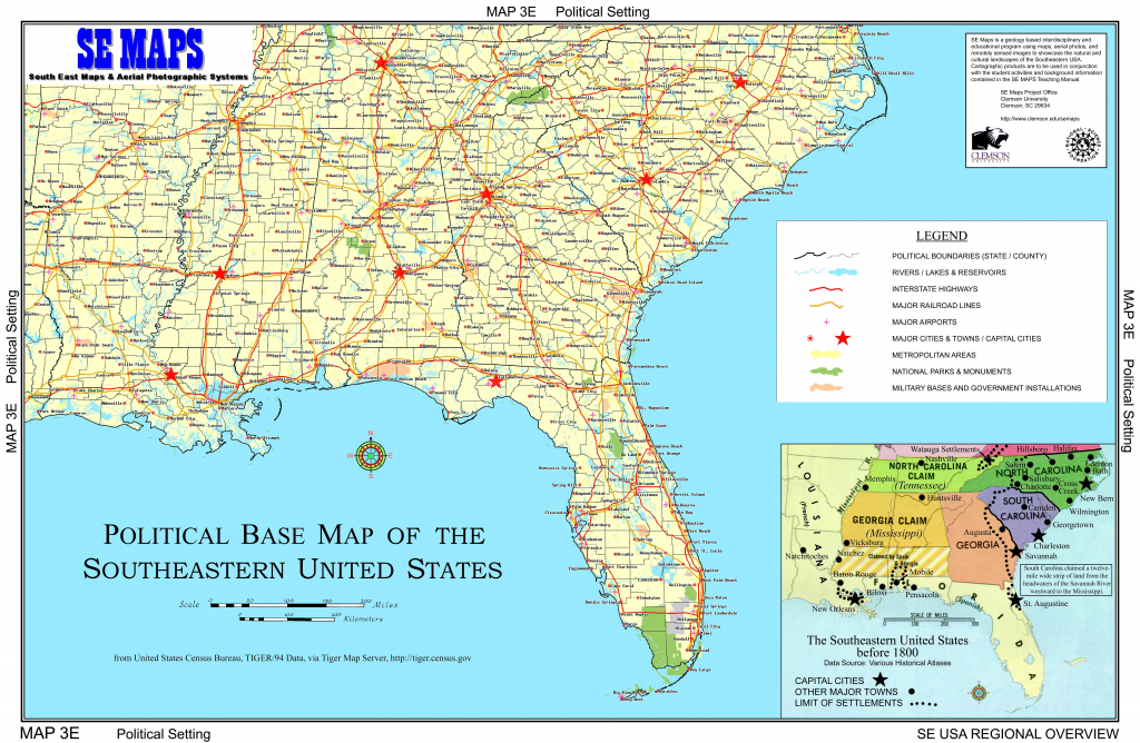 Us Map Southeast Printable Map Of Se Usa 1 Beautiful Us Map | Printable Map Of Southeast Usa