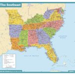 Us Map Southeast Printable Map Of Se Usa 1 Elegant Awesome Us Map | Printable Map Of Southeast Us