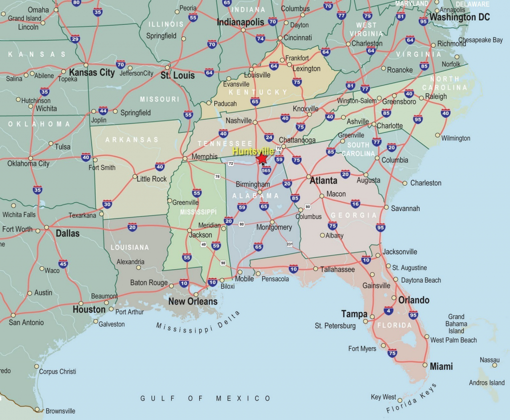Us Map Southeast Printable Map Of Se Usa 1 Fresh Us Map Southeast | Printable Map Of Southeastern Usa