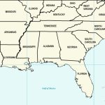 Us Map Southeast Printable Map Of Se Usa 1 Inspirational Printable | Printable Map Of Southern Usa