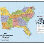 Us Map Southeast Printable Southeast Us Political Map Lovely | Printable Map Southeast United States