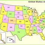 Us Map States Abbreviations Of Usa With State Names Best United | Printable Map Of Usa With State Names And Abbreviations