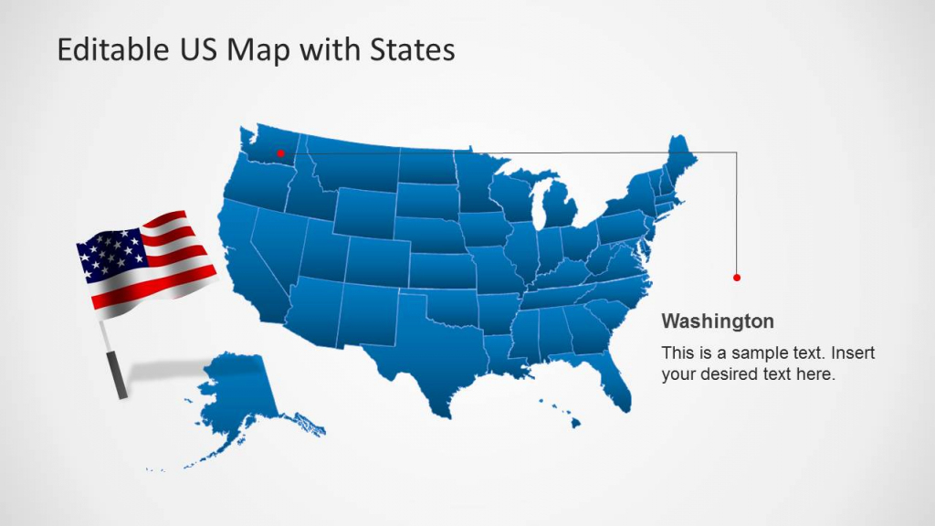 Us Map Template For Powerpoint With Editable States - Slidemodel | Printable Editable Us Map