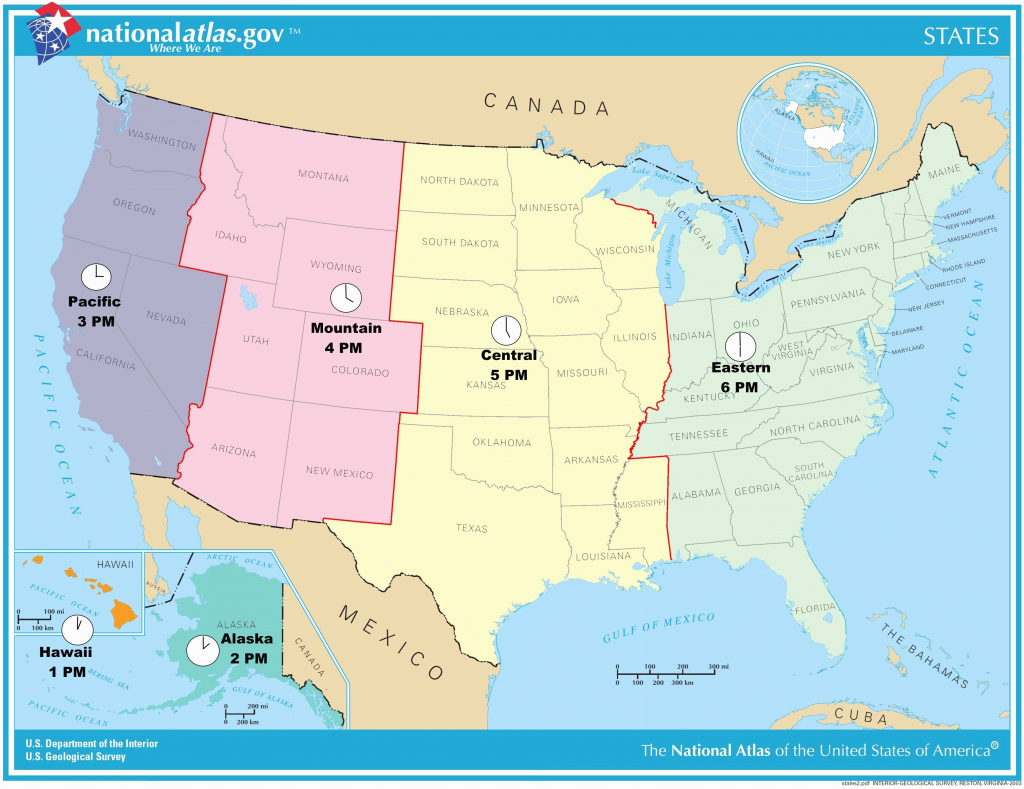 Us Map Time Zones With States Ustimezone Awesome Us Map Based Time | Printable Us Timezone Map