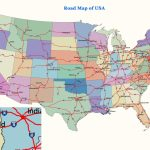 Us Map W Major Highways Unique Printable Us Map With Interstate | Printable Map Of The United States With Major Cities And Highways