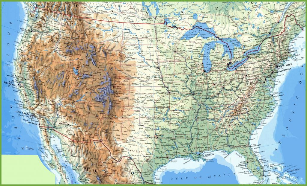 Us Map With Bodies Of Water Usa Politcal Map Inspirational Big | Big Printable Usa Map