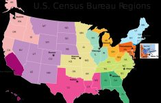 Us Map With California Highlighted Printable Us Census Map Regions | Printable Us Map Regions