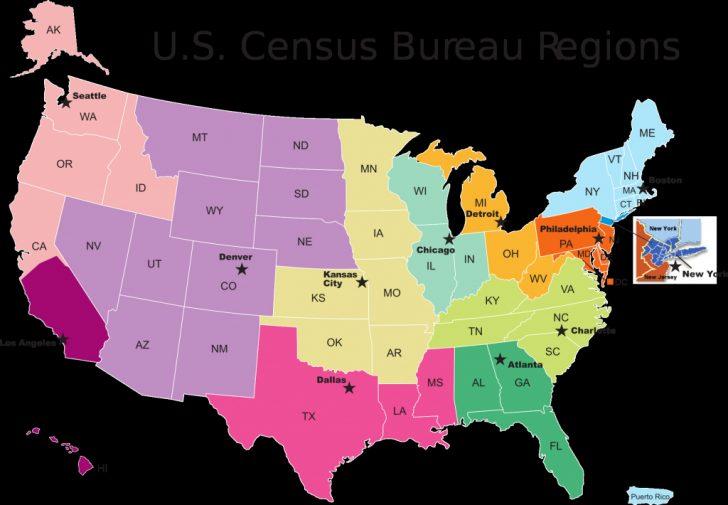 Printable Us Map Regions