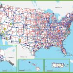 Us Map With Interstate Routes Elegant Printable Us Map With | Printable Us Interstate Highway Map