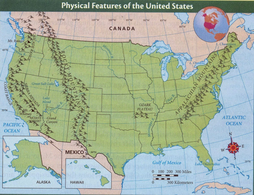 Us Map With Mountain Ranges Phys Map Best United States Physical Map | Printable Map Of Us Mountain Ranges