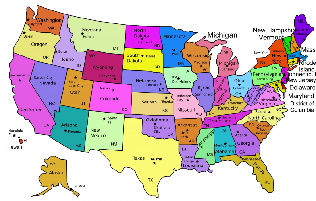 Us Map With Names Printable Usa Namesprint Lovely Best Maps The   Printable Map Of United States Of America With Names