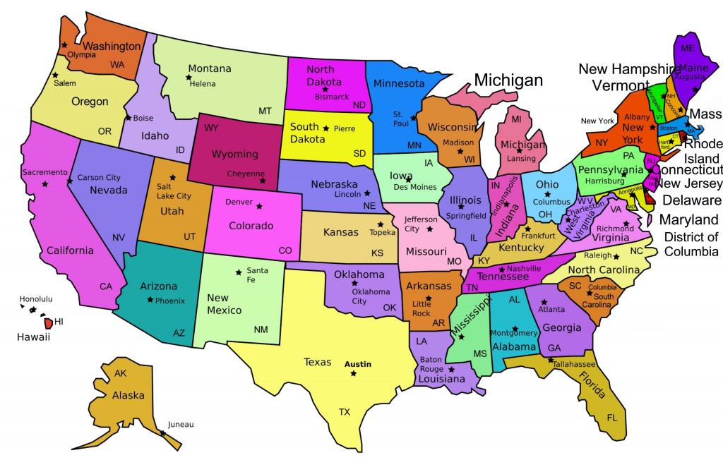 Us Map With Names Printable Usa Namesprint Lovely Best Maps The | Printable Us Map With Names