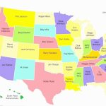 Us Map With State Capital Names Beautiful United States Map With | Free Printable United States Map With State Names And Capitals