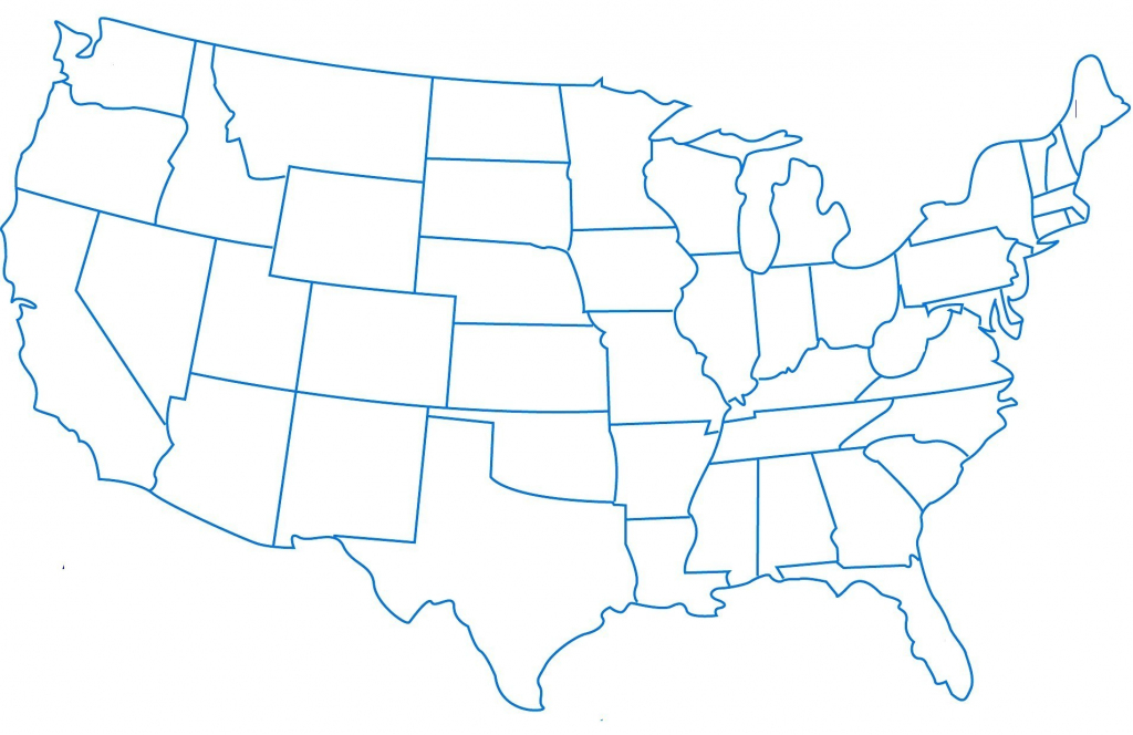 Us Map Without Names | Printable Us Map Without Names