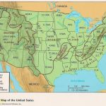 Us Physical Map With Elevation Fresh Us Elevation Map With Key | Printable Geographical Map Of The United States