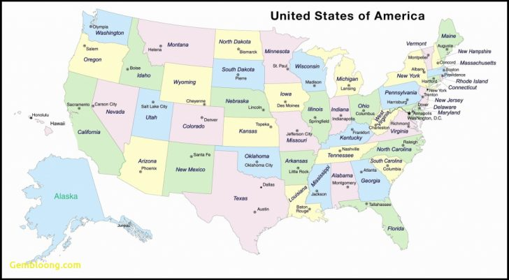 Printable Us Map With Postal Abbreviations