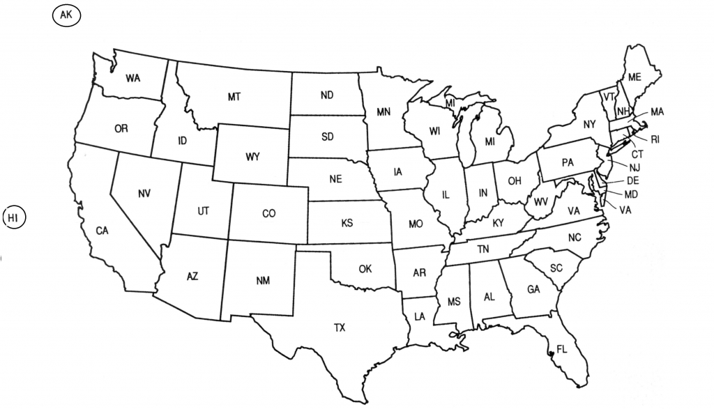 Us Postal Abbreviations Map Z Usstateabbreviations Luxury Top Blank   Printable Us Map With State Abbreviations