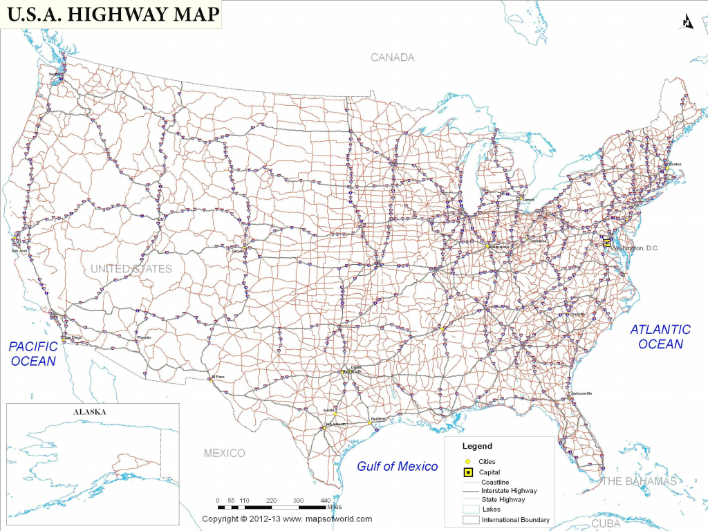 Us Road Map With Major Cities Elegant Printable Us Map With Cities | Printable Us Road Map With Cities