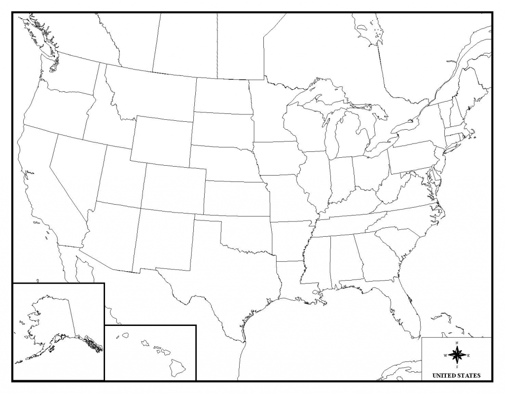 Us State Map Quiz Printable States Outline Game With United On | Us State Map Quiz Printable