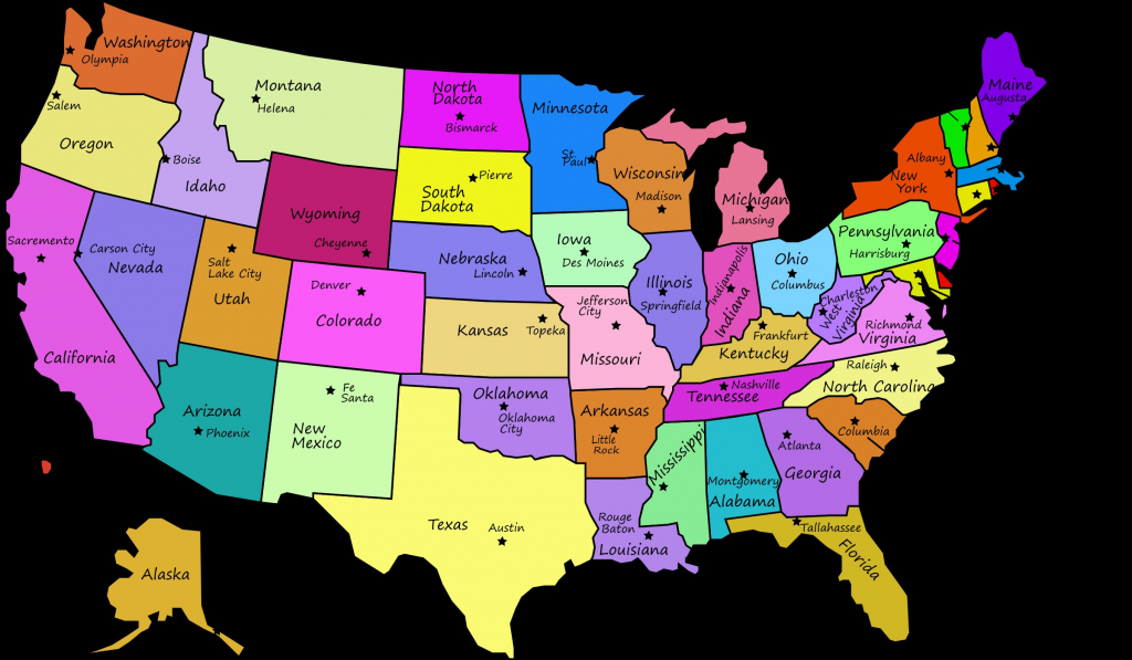 Us State Map With Capitols Usastatescaps New Best Us Map With States | Printable Map Of Usa With State Names And Capitals