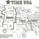 Us States Map With Time Zones Usa Time Zone Map Inspirational | Printable Usa Map With States And Timezones