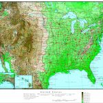 Us Topographic Map With Cities Usa Elevation Map 088 Fresh Top | Printable Topographic Map Of Usa