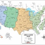 Usa Area Code And Time Zone Wall Map   Maps | Printable Us Timezone Map With Area Codes
