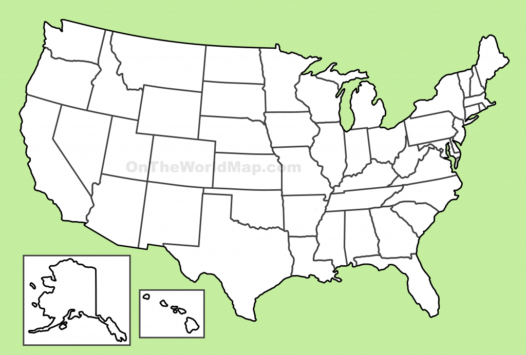 Usa Blank Map | Large Blank Printable Map Of The United States
