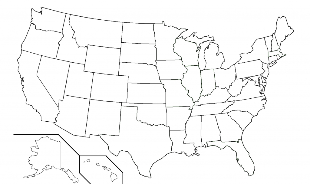 Usa Blank Map Large Printable Us Outline Worksheet United States | Large Printable Map Of Usa