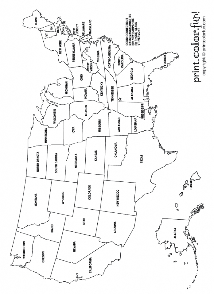 Us Map Without State Names Printable Coloring Map Us And ...