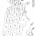 Usa Coloring Page   Labeled With States Names   From Print Color Fun | Printable Us Map With State Names