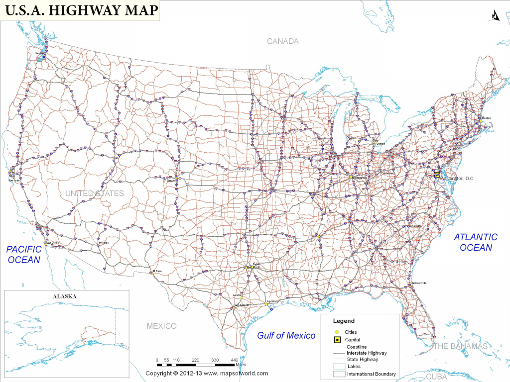 Usa Interstate Highways Map Valid Us Map With Interstate Highway | Printable Map Of Us Interstate System