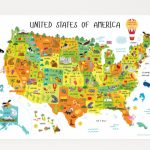 Usa Map For Kids, Maps For Kids, United States Map, 50 States For | Printable Usa Map For Preschoolers