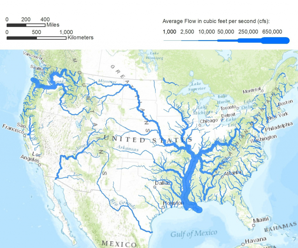 Usa Map Mountains And Rivers Printable Us Physical The United States | Printable Us Map With Mountains And Rivers