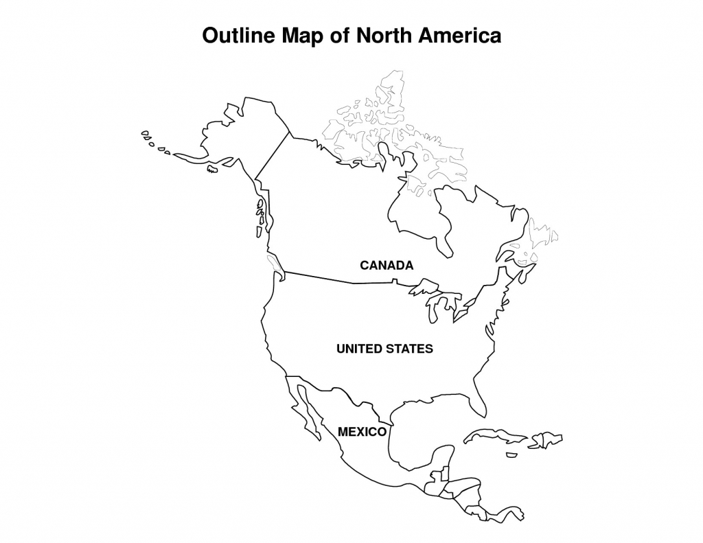 Usa Map Outline Clip Art New Printable Map Of North America - Coliga | Printable Usa Map Outline