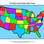 Usa Map Puzzle In Printable Us State World Maps New On Printable Us | Map Of The United States Puzzle Printable
