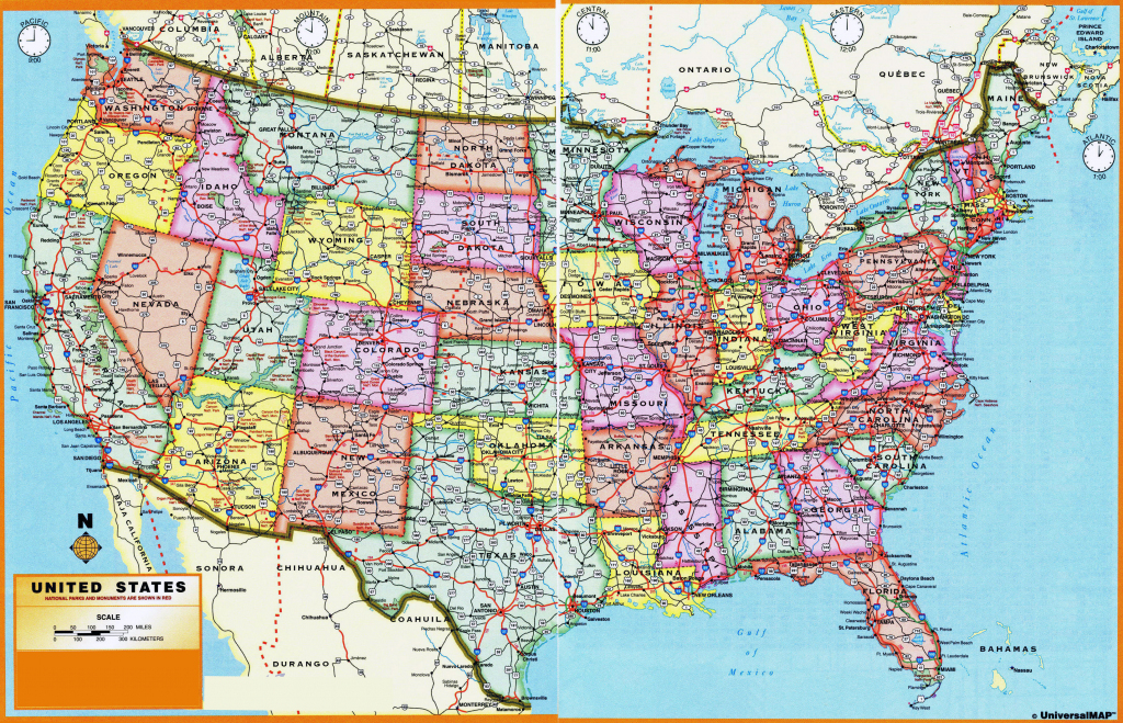 Usa Maps States And Cities #195421 | Large Scale Printable Us Map