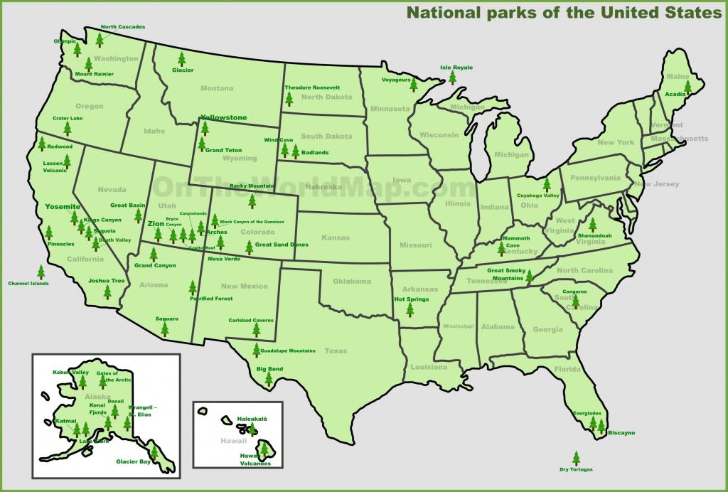 Usa National Parks Map - Printable Map Of Us National Parks   Printable Map Of National Parks In Usa